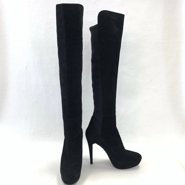 Authentic Stuart Weitzman Black Playform Over the Knee Boots