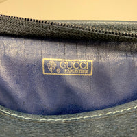 Authentic Gucci Supreme Navy Canvas Cosmetic Bag