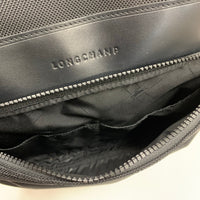Authentic Longchamp Black Mens Textile Nylon Backpack