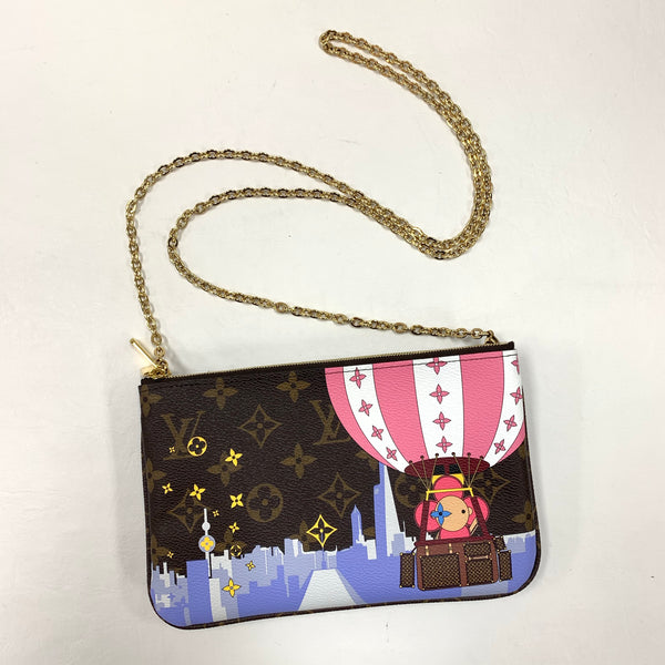 Authentic Louis Vuitton Ltd Ed. Vivianne Double Zip Pochette