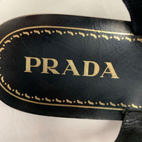 Authentic Prada Calzature Donna Black Studded Sandals