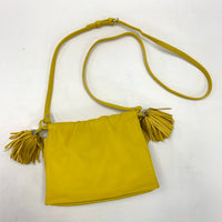 Authentic Loewe Mustard Yellow Nappa Flamenco Bag