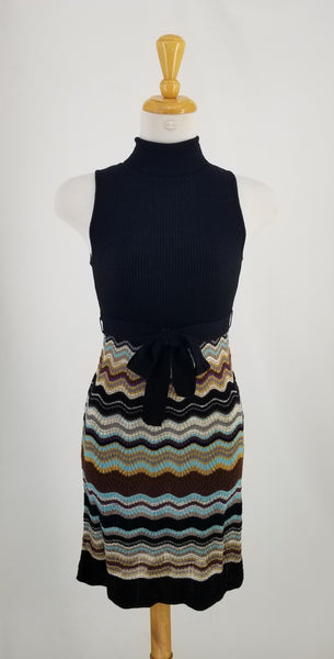 Authentic Missoni Sleeveless Turtleneck Dress Sz 38