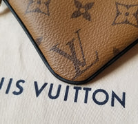 Authentic Louis Vuitton Reverse Monogram Trio Square Pouch