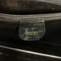 Authentic Gucci Black Suede Shoulder Bag
