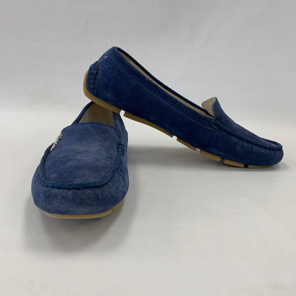 Authentic Gucci Blue Suede Loafers Women's Size 39 / 8.5