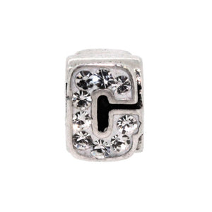 Miss Glitter Sterling Silver Letter G Charm