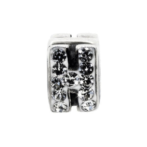 Miss Glitter Sterling Silver Letter H Charm