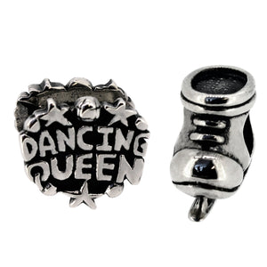 Miss Glitter Dancing Queen Sterling Silver Charms Set