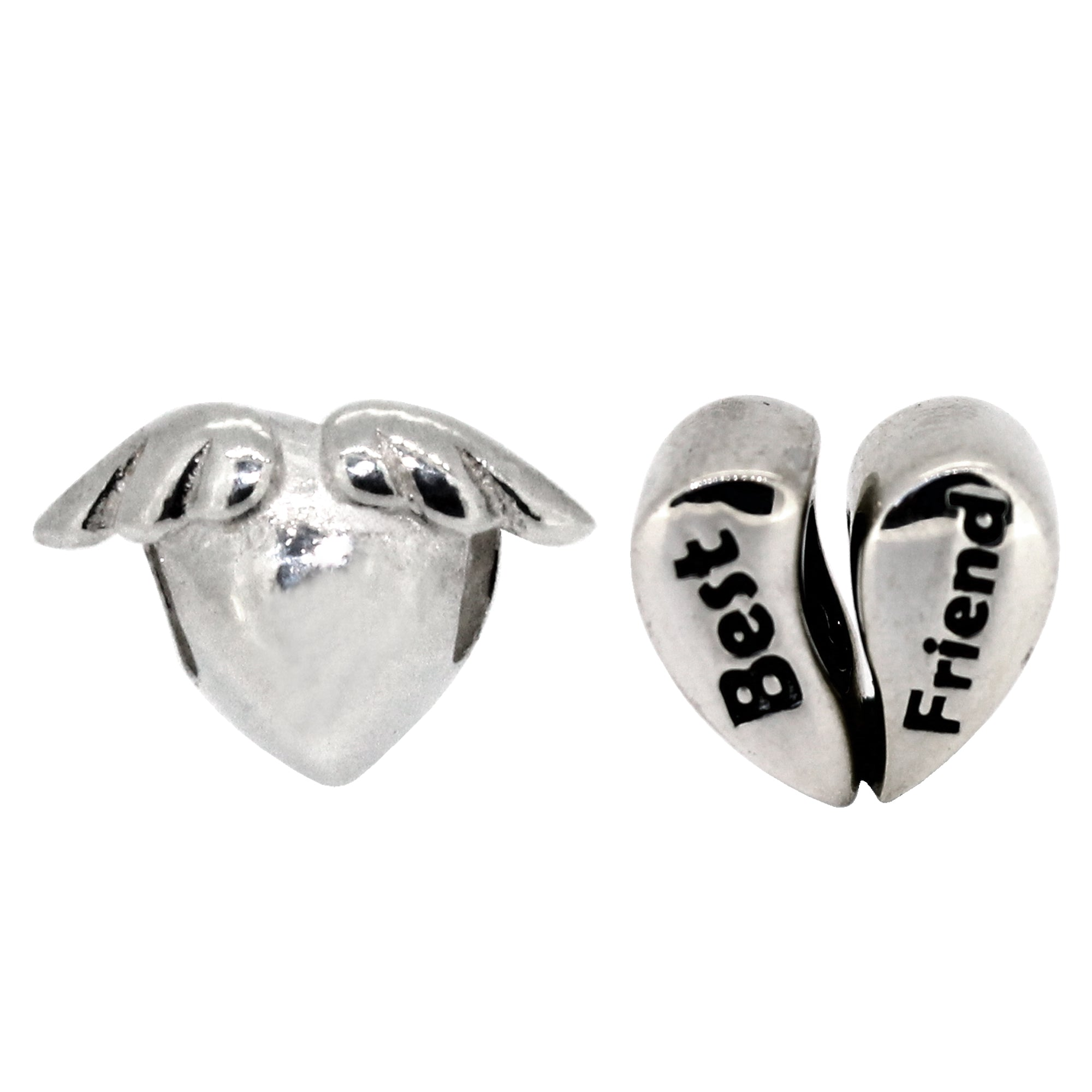 Miss Glitter Sterling Silver Best Friends Charm Set