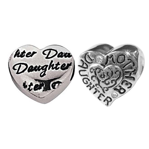 Link-Up Sterling Silver Mother and Daughter Charms