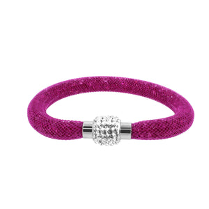 City Chic Fuchsia Star Dust Bracelet with Sparkly Clasp