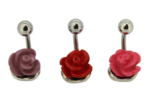 My Body Candy Set of Three Rose Belly Bars