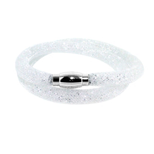 City Chic Double Row White Star Dust Bracelet