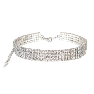 Hollywood Glamour Diamante Choker Necklace