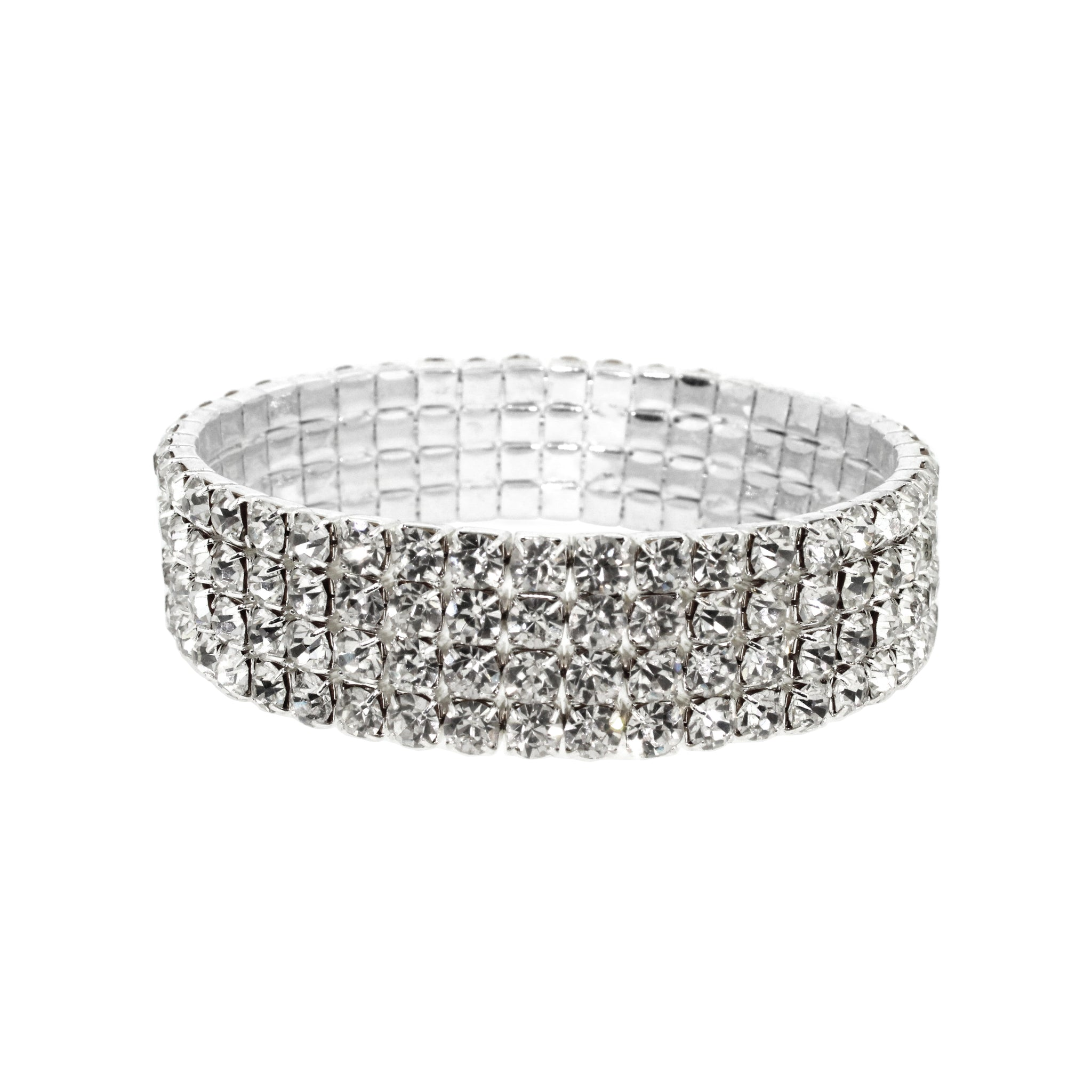 Hollywood Glamour Diamante Stretch Bracelet