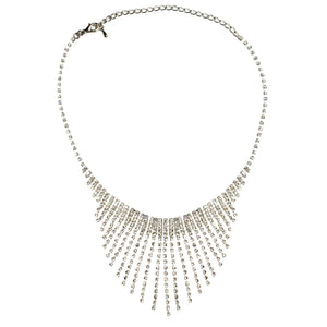 Hollywood Glamour Diamante Floating Collar Necklace