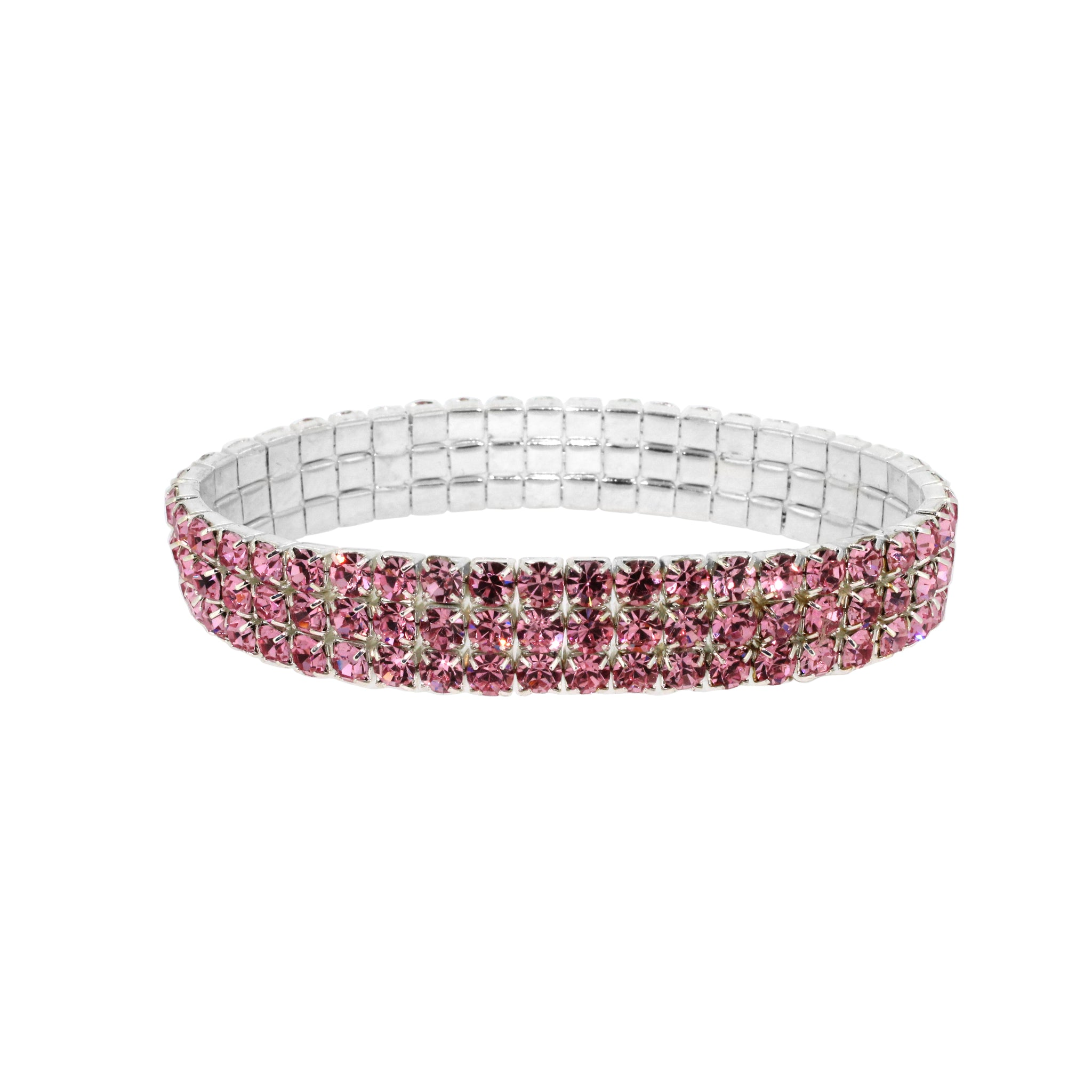 Hollywood Glamour Pink Diamante Stretch Bracelet