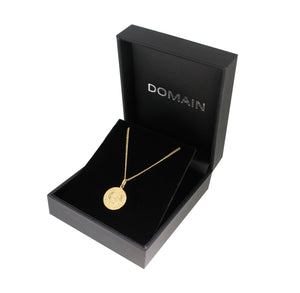 Domain Gold Plated Silver St Christopher Pendant Necklace