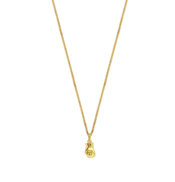 Domain Gold Plated Silver Boxing Glove Pendant Necklace