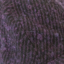 Load image into Gallery viewer, Adjustable Cap in Black & Purple Wool