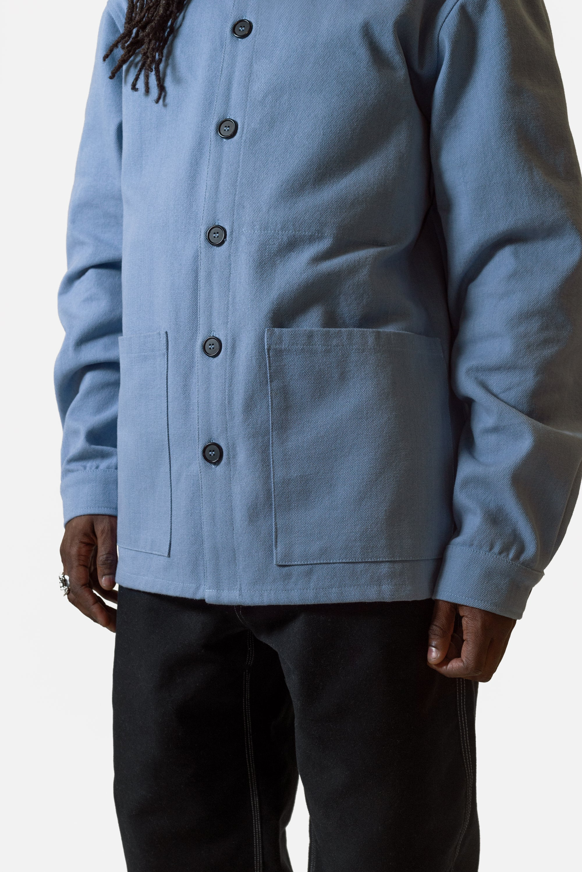 Caddy Jacket - Blue Woven