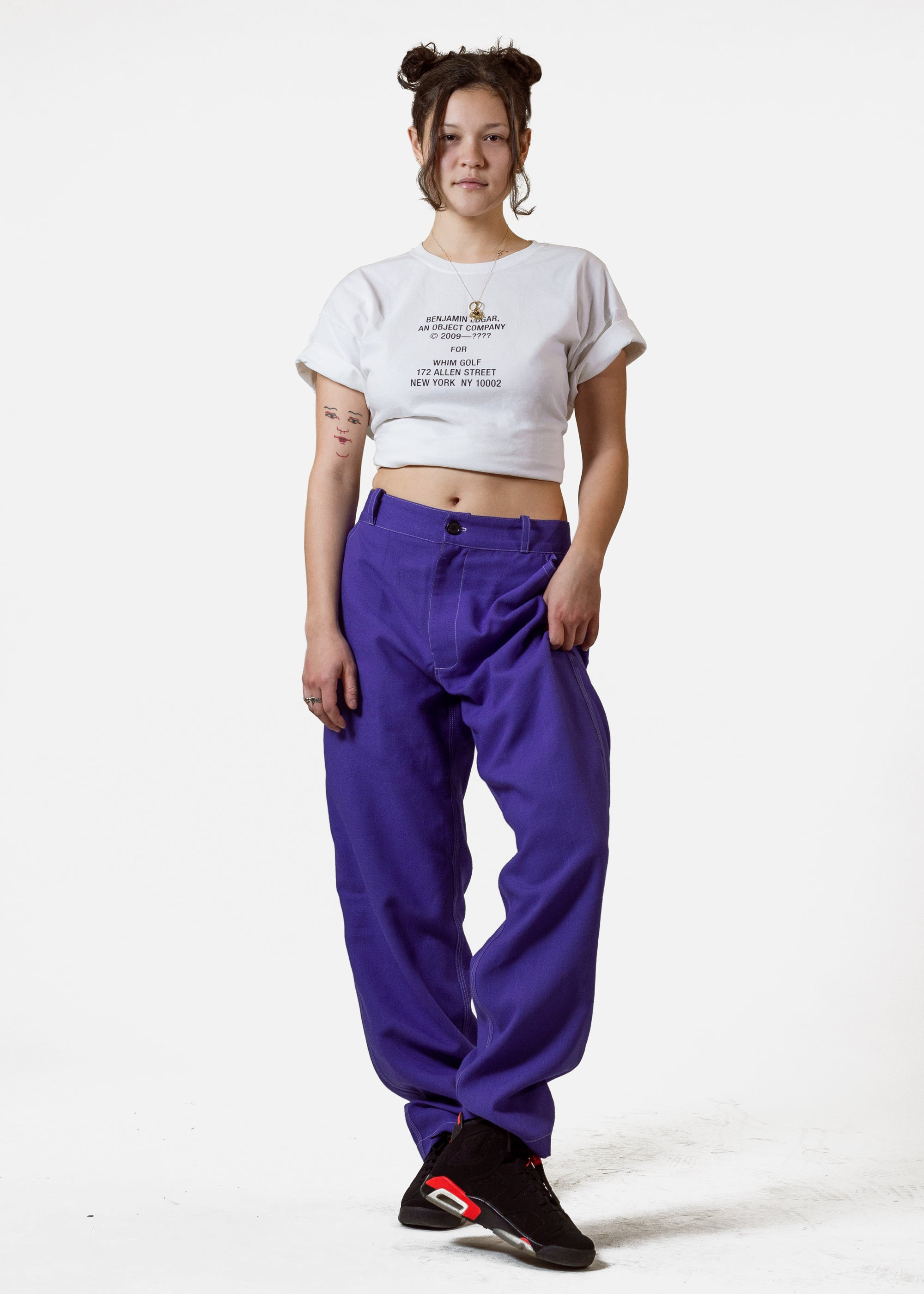 Dirt Pant Royal Purple Linen
