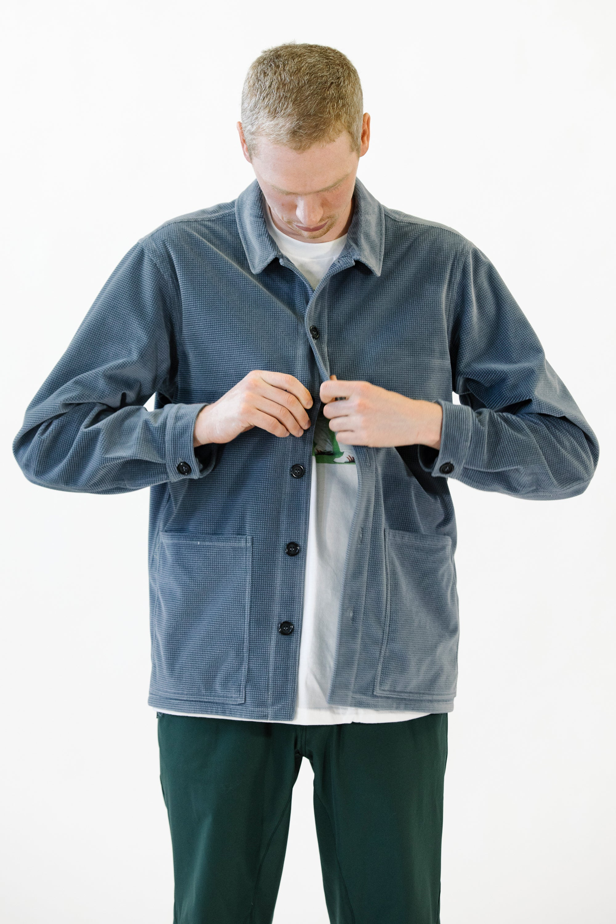 Caddie Jacket Blue Heavy Cotton