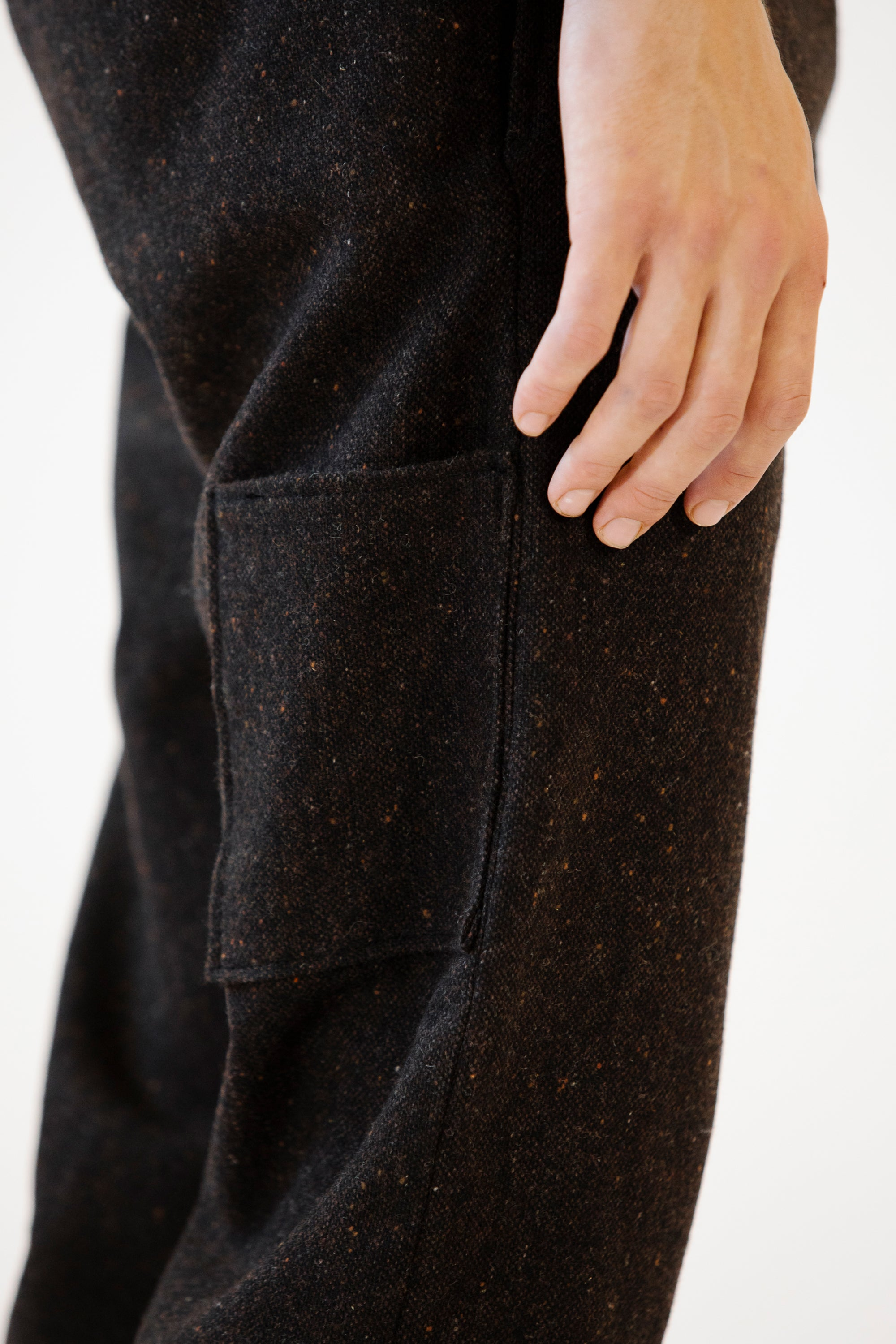 Brown Donegal Wool Pants