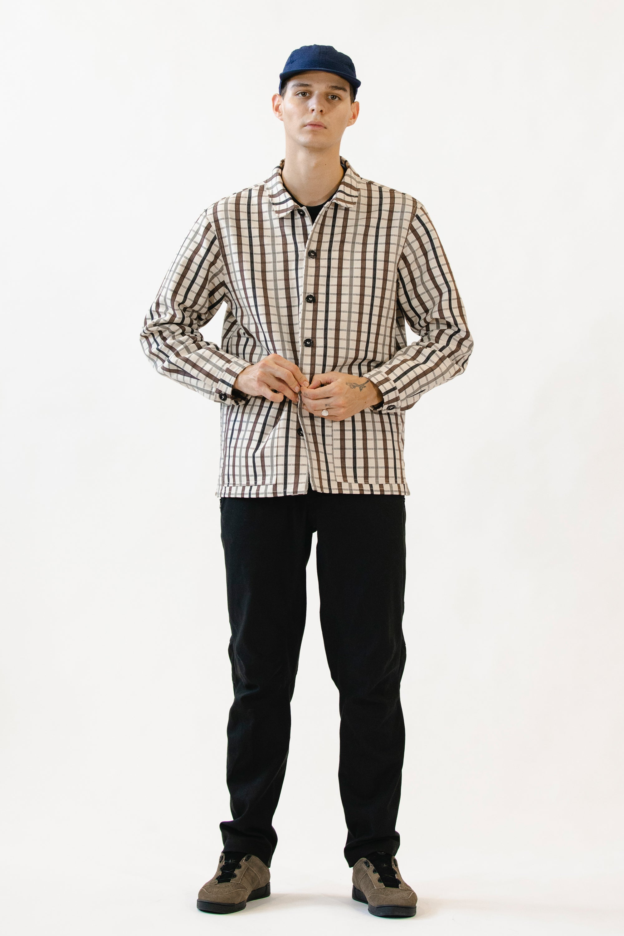 Caddie Jacket - Checked Canvas Cotton