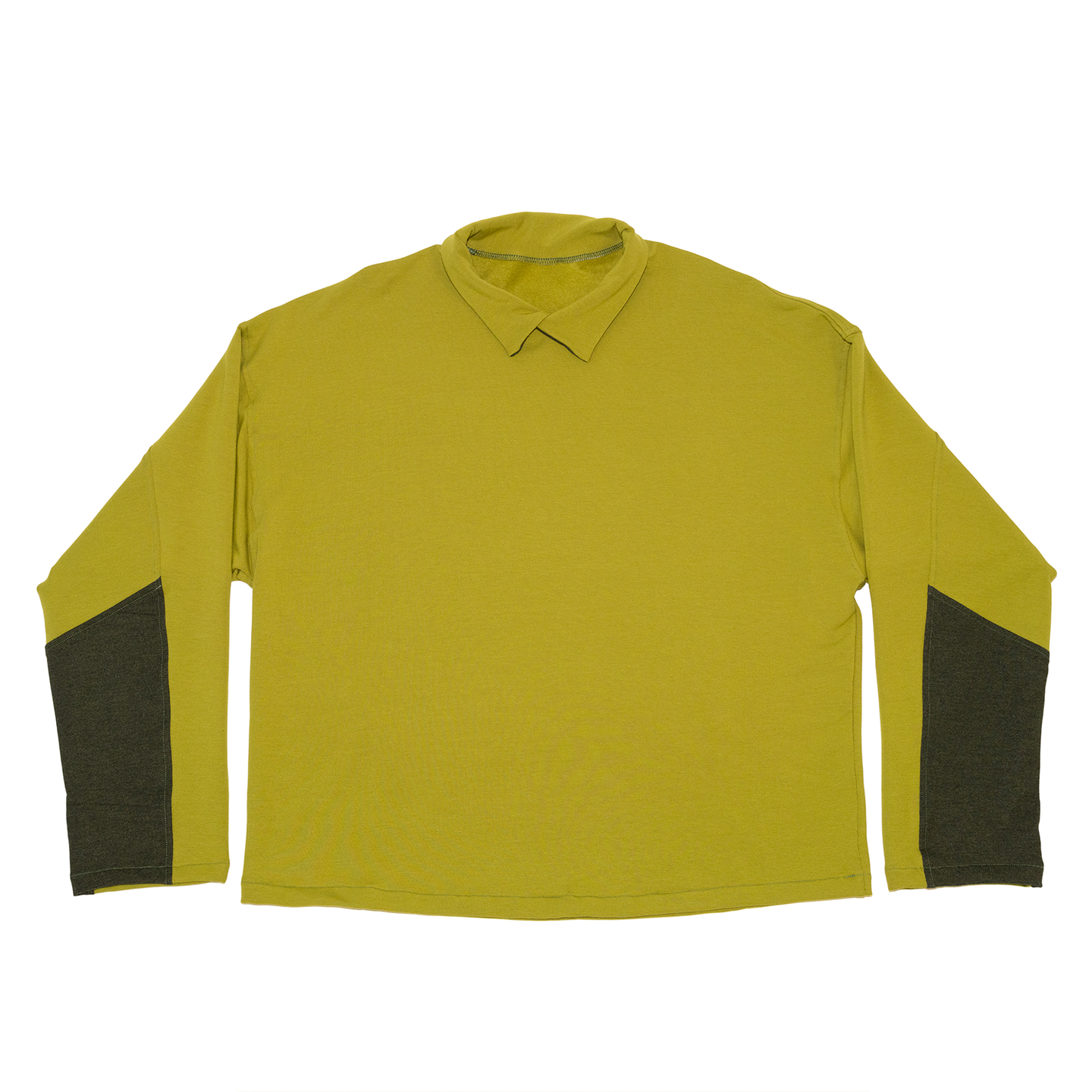 Collared Crewneck in Chartreuse