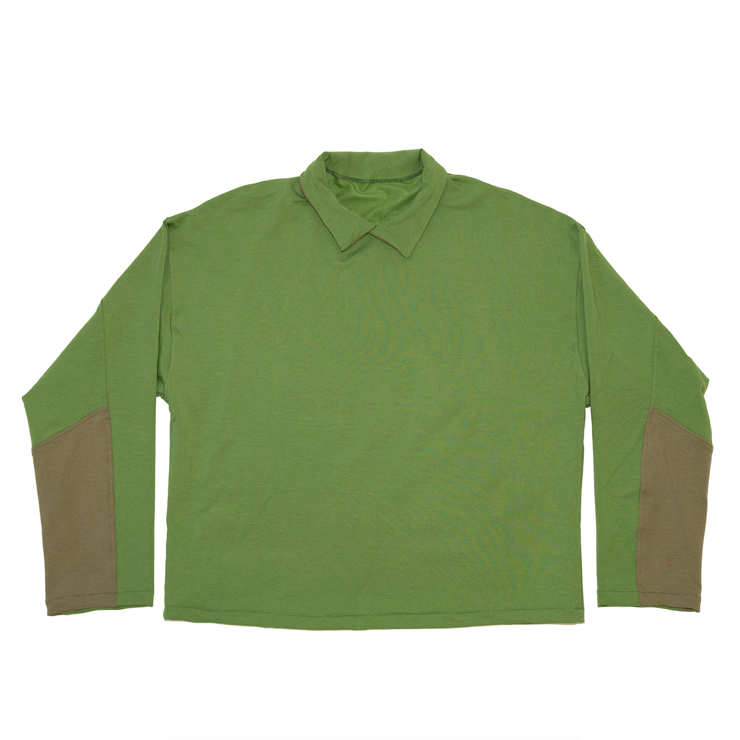 Collared Crewneck in Grass