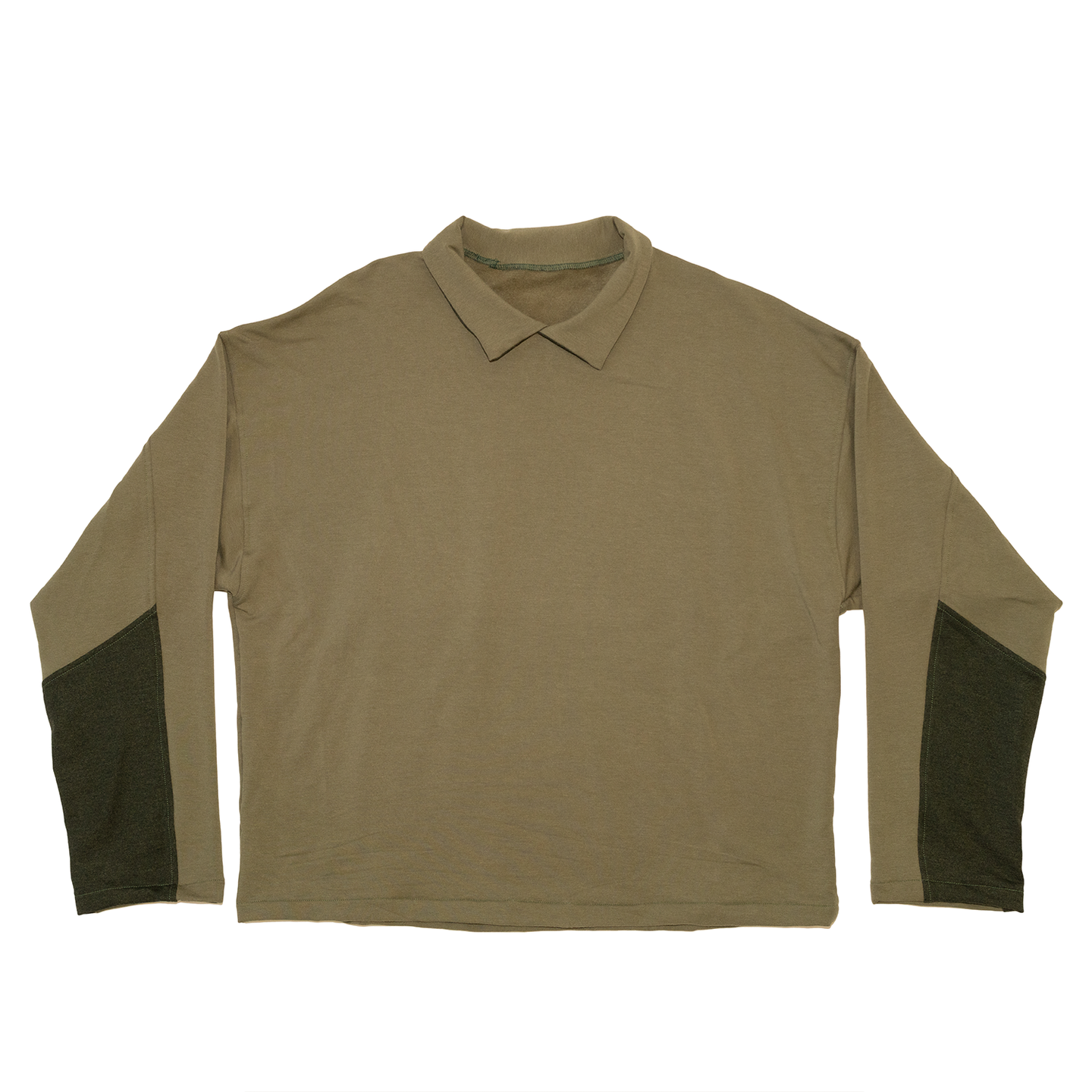 Collared Crewneck in Olive