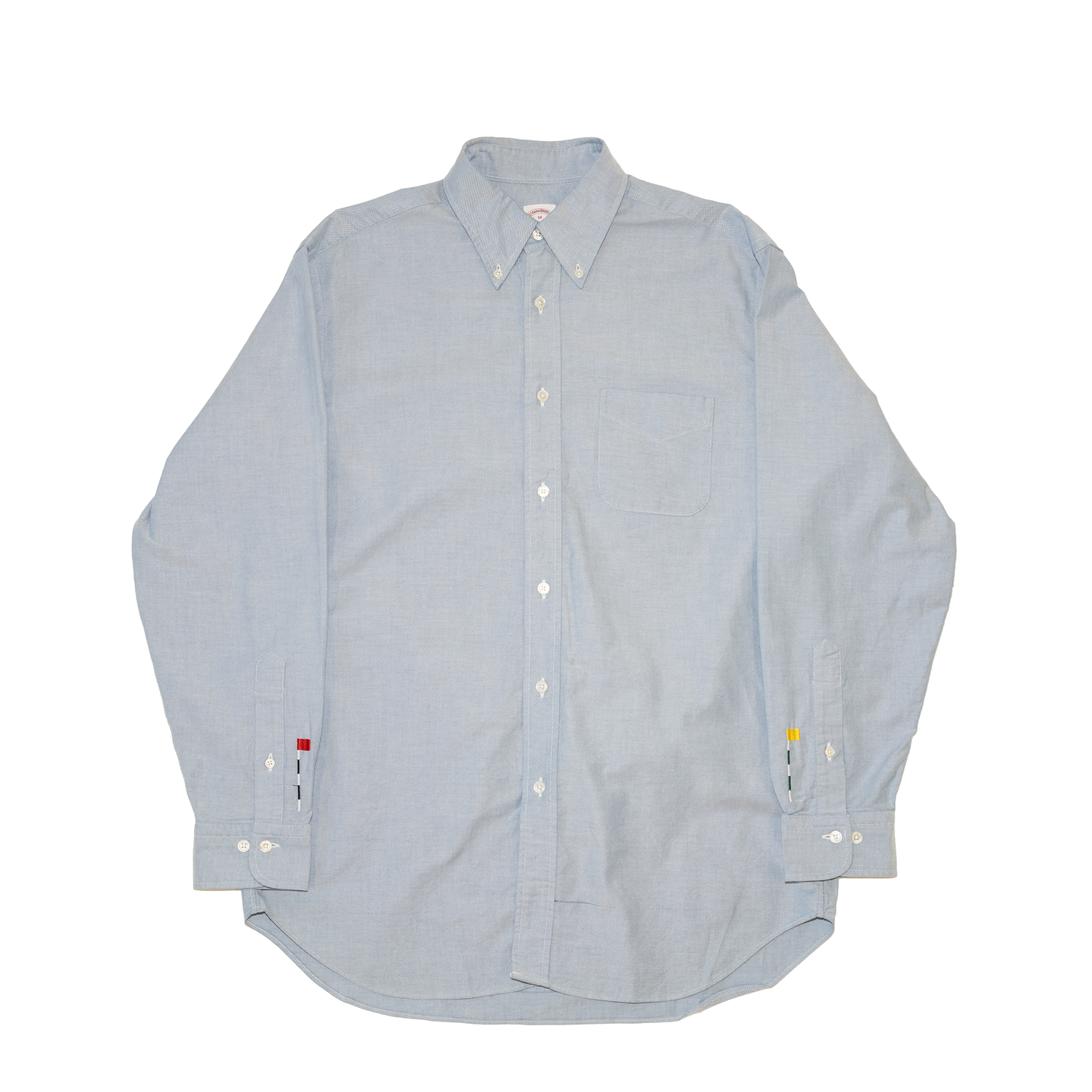 Button Down Shirt with Cuff Embroidery