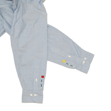 Load image into Gallery viewer, Button Down Shirt with Cuff Embroidery