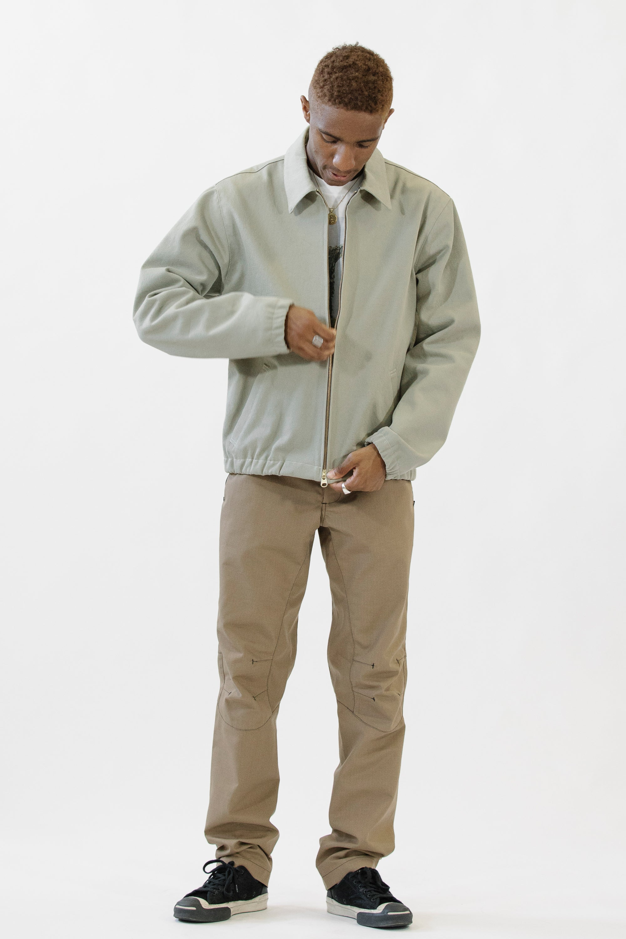 Club Jacket Heavy Canvas Cotton Moss