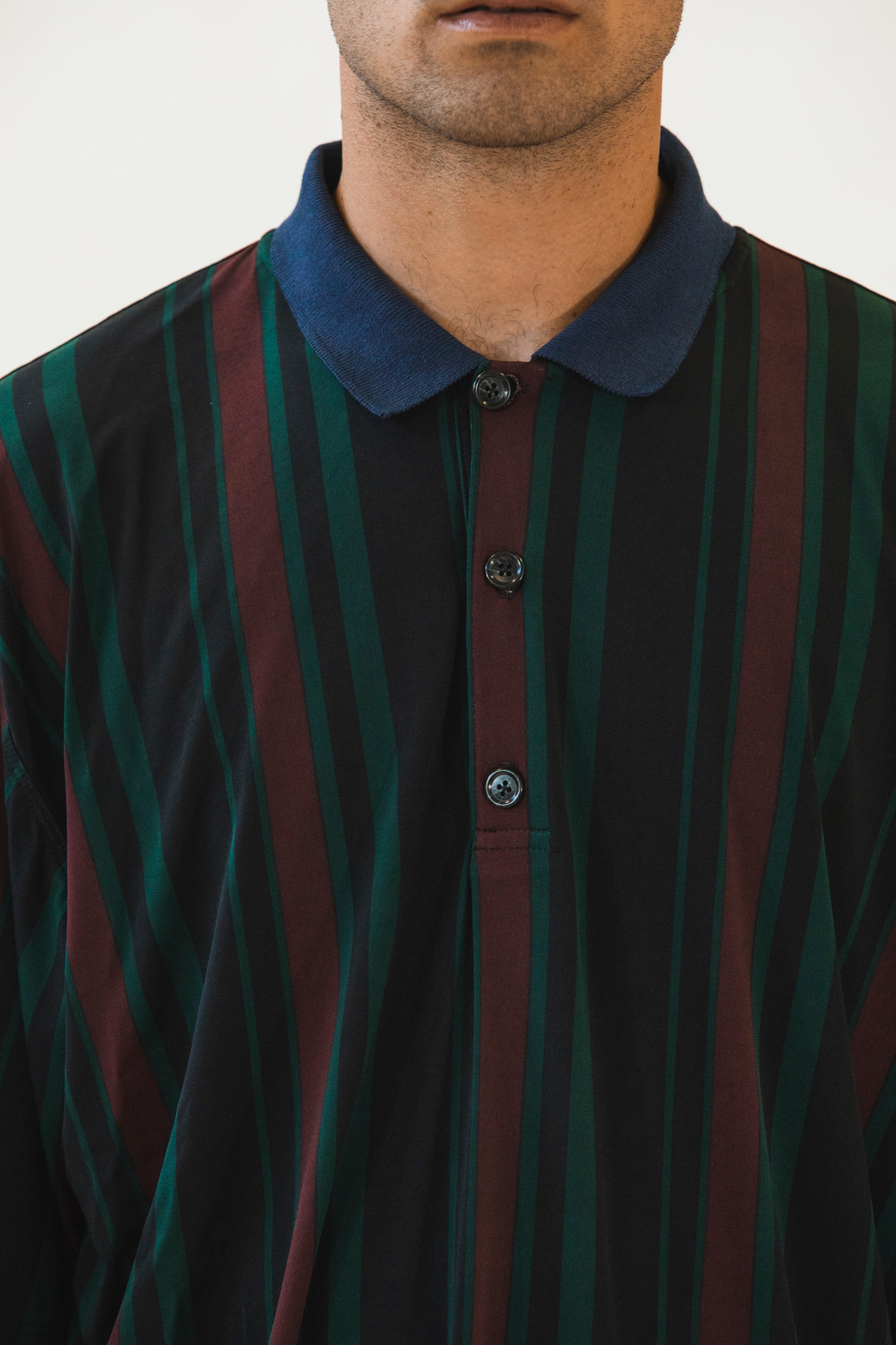 Collared Sport Shirt Green Black Burgundy