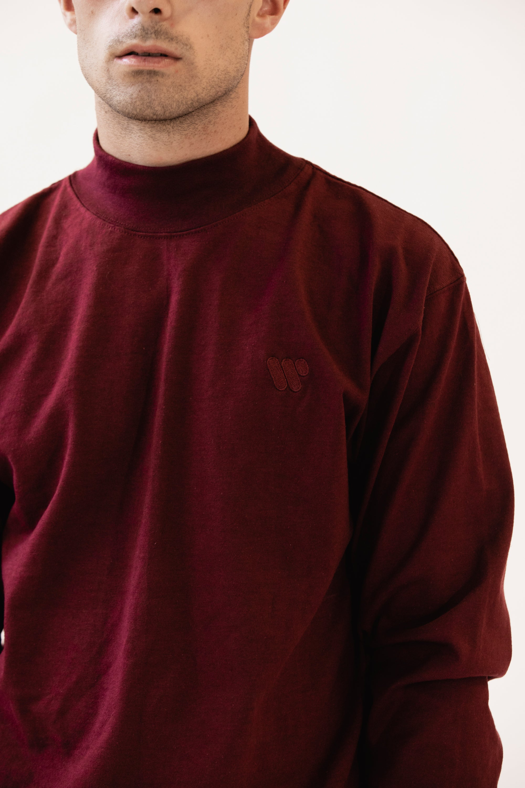 Range Mock Turtleneck Burgundy