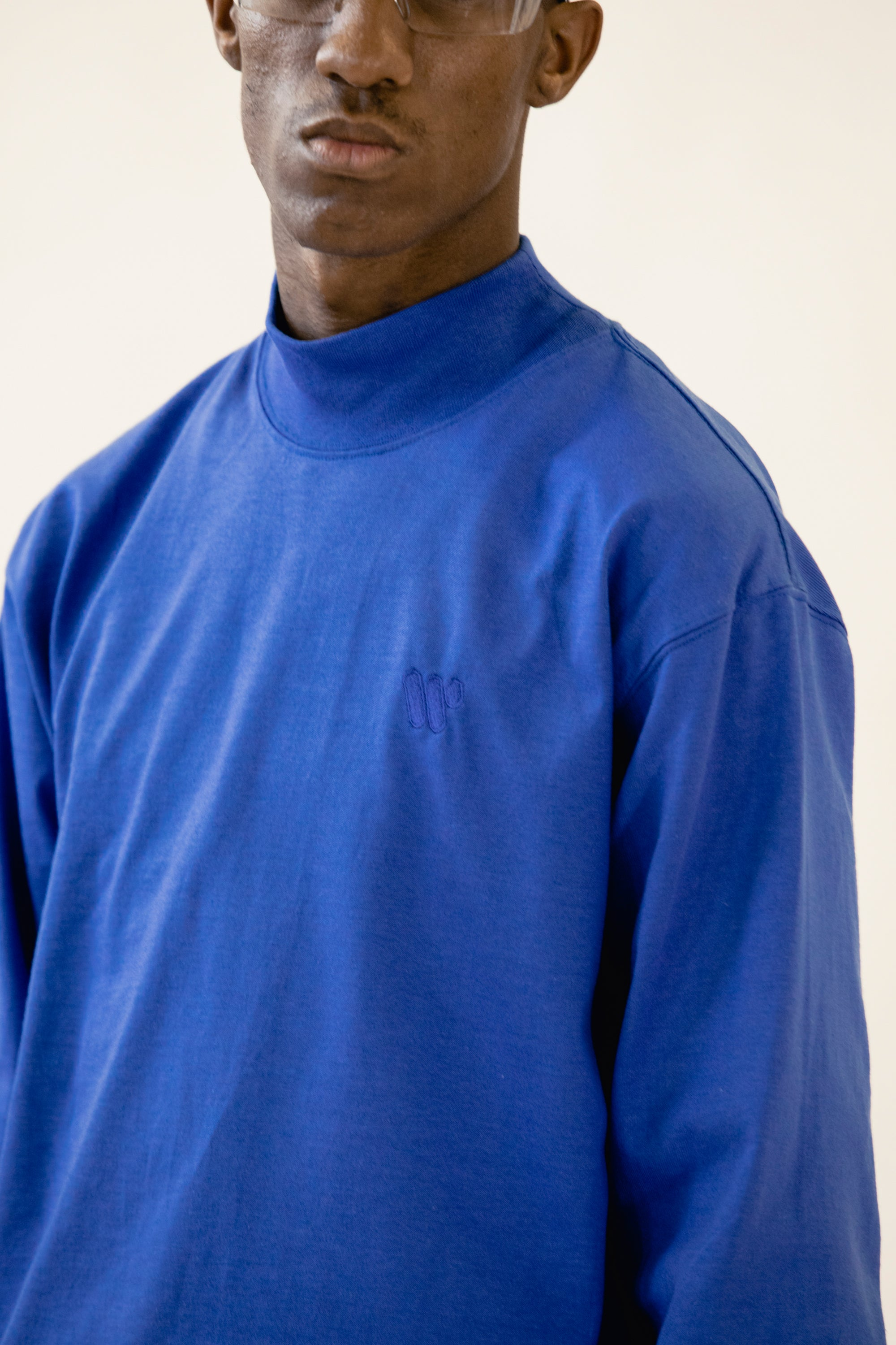 Range Mock Turtleneck Blue