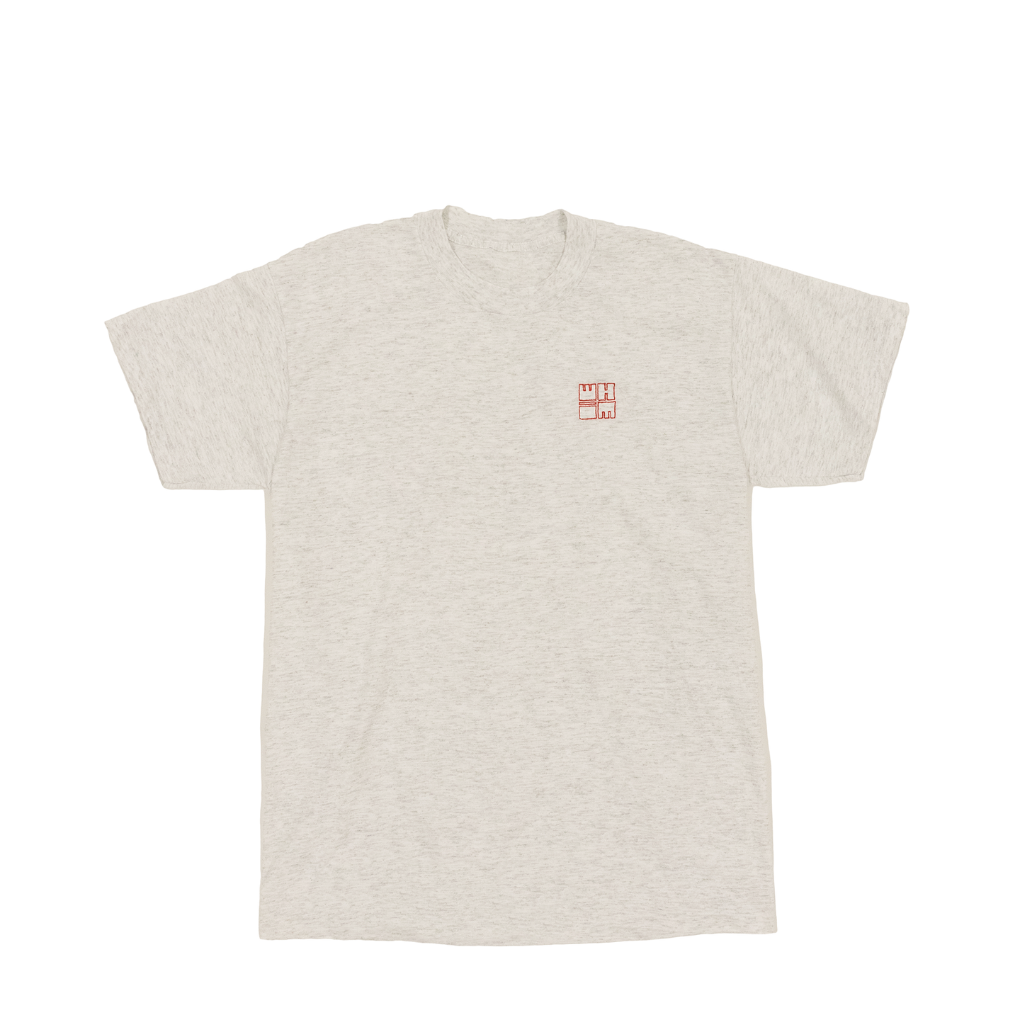 Whim Square Embroidered Heather Grey T-Shirt