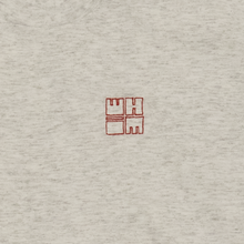Load image into Gallery viewer, Whim Square Embroidered Heather Grey T-Shirt