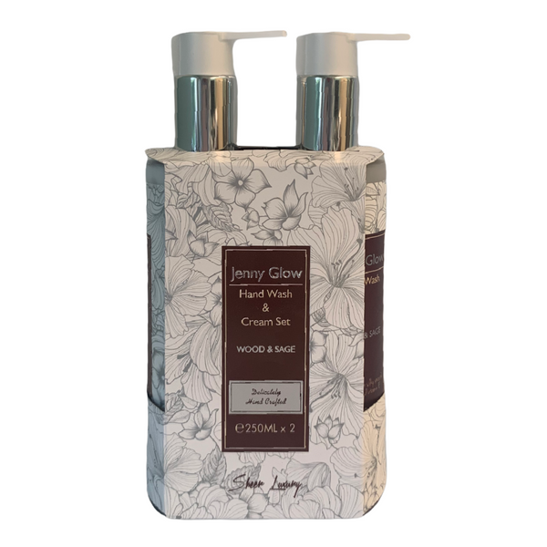 Wood & Sage Hand Wash & Cream Set