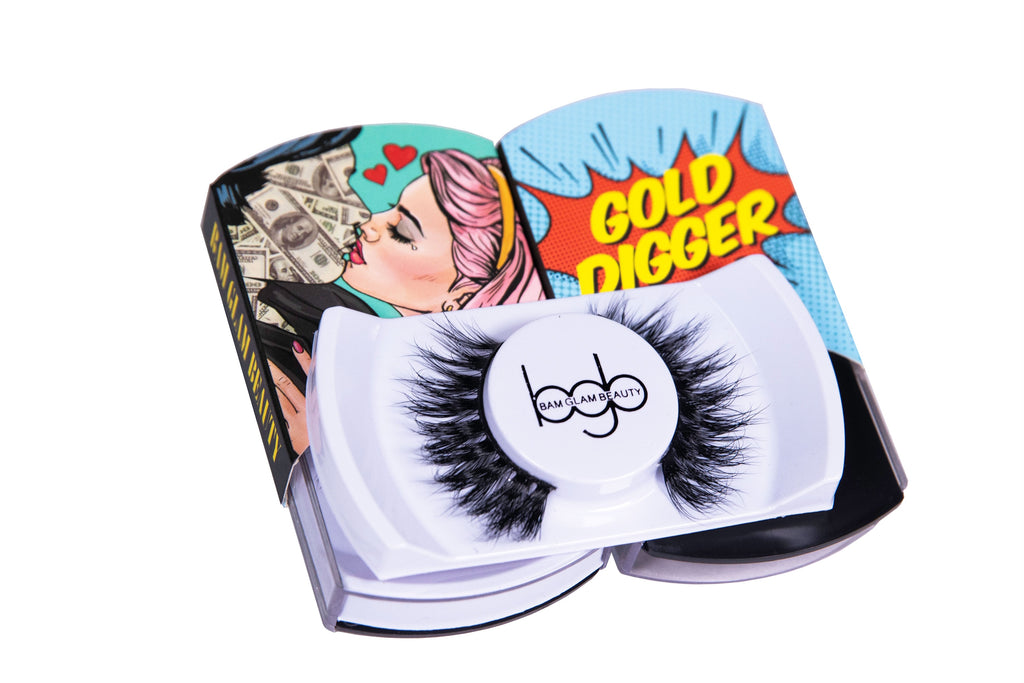 Bam Glam Beauty Gold Digger Lashes Vegan Cruelty-Free Handmade