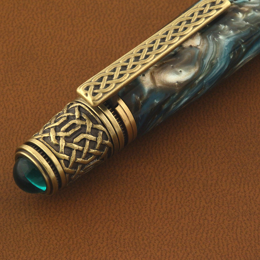 Celtic Twist Pen in Olive Grove Acrylic