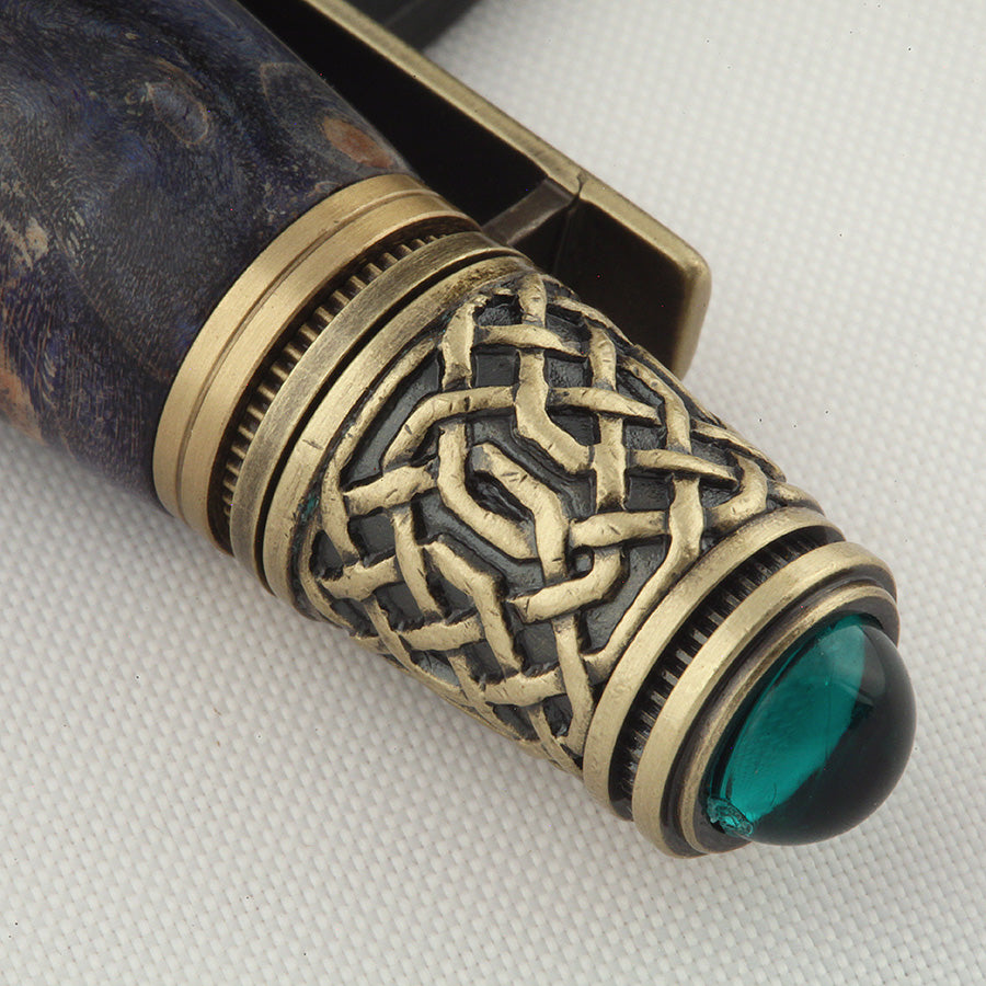 Celtic Twist Pen in Dyed Big Leaf Maple