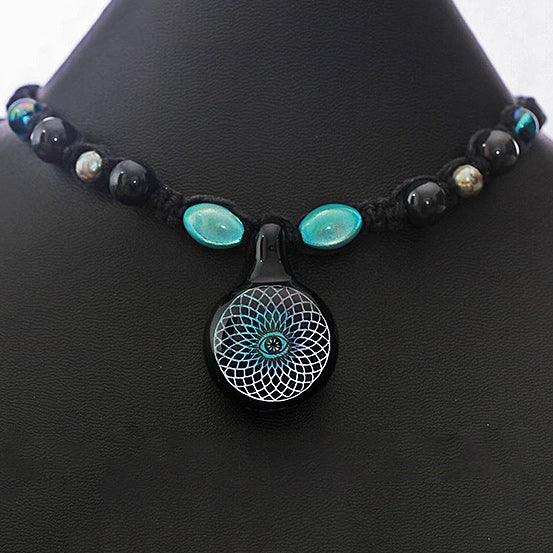 Sacred Eye Dichroic Necklace