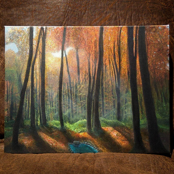 Forest Walk • Painted Acrylics on Canvas