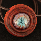 Bloomfield Circle Implosion Wood & Glass Pendant