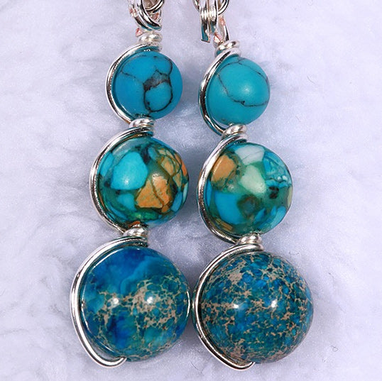 Jasper & Tourquoise Earrings
