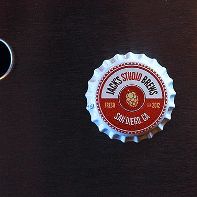 """Jack's Studio Brews"" Bottle Cap Magnet - 2 Pack"